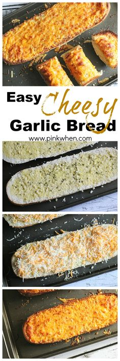 Super simple and completely delicious. And I love simple and delicious. Easy Cheesy Garlic Bread. www.pinkwhen.com