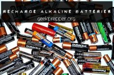 How to Recharge Alkaline Batteries via John B