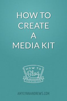 Wondering how to create a media kit for your blog or website? Here are my tips after much observation, research and inspiration.