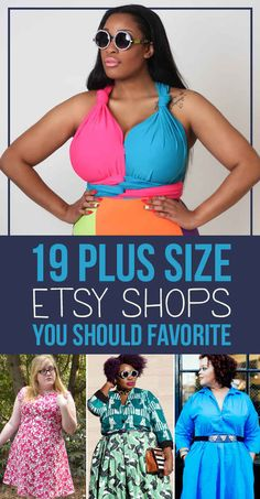 19 Plus-Size Etsy Shops You Should Favorite Right Now. [I'm going to check all these out now, but I don't want to lose the list.]