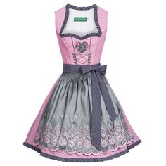Mini Dirndl Gitte in Rosa von Country Line