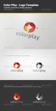 Color Play  Logo Template — Vector EPS #color #identity • Available here → https://graphicriver.net/item/color-play-logo-template/2668242?ref=pxcr