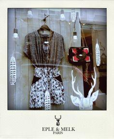Boutique - 45 rue Charlot 75003 Paris #epleandmelk #hiver13 #vitrine #treizebis