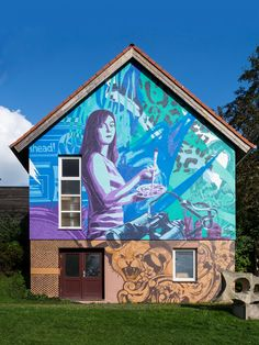 The Sense of Things Mural Art, Murals, Blue Colors, Colours, Graffiti, It Works, Lion, Germany, Sky