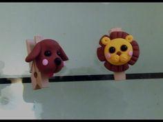 輕鬆學黏土-獅子萬用夾 - YouTube