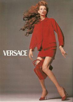 Versace Campaign Couture FW 1995-96 - Trish Goff, Shalom Harlow, Kristen McMenamy, Amber Valletta by Richard Avedon