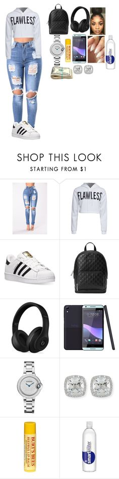 """""""Untitled #150"""" by shey-mabry ❤ liked on Polyvore featuring WithChic, adidas, Gucci, Beats by Dr. Dre, HTC, Frederic Sage and Burt's Bees"""