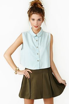 Now And Then Crop Top in Clothes Tops Shirts + Blouses at Nasty Gal