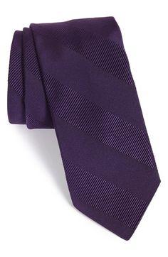 Todd Snyder White Label Textured Stripe Silk & Cotton Tie