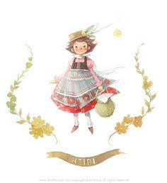 """Kim Min Ji, """"Heidi"""" illustration"""