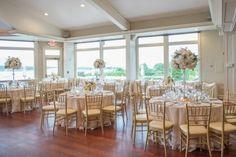 Gold wedding tables setup -  Michael David Photography