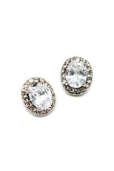 Sparkling Oval Earrings