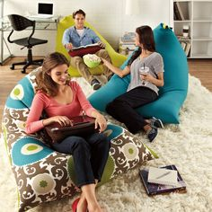 Twisted! This quirky Twist Beanbag is super comfy and UV-protected for indoor/outdoor use.