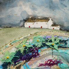 'Down by the pond' by Louise O'Hara of DrawntoStitch http://www.facebook.com/drawntostitch/