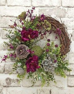 spring wreath for front door mesmerizing beautiful front door wreath ideas front door wreath silk floral wreath grapevine wreath spring wreath spring wreaths for your front door Wreath Crafts, Diy Wreath, Grapevine Wreath, Wreath Fall, Wreath Ideas, Green Wreath, Wreath Burlap, Monogram Wreath, Diy Crafts