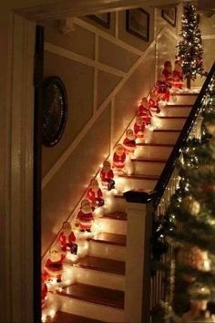 #santas on the #stairs #christmas #personalisedletterfromsanta www.fatherchristmasletters.co.uk/pinterest
