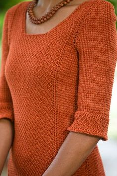 This Tunisian crochet sweater pattern is simply gorgeous!