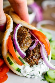 Make your favorite restaurant-style Greek gyros at home! This homemade gyro meat recipe combines beef and lamb to get that distinctive flavor you love. Homemade Gyro Meat Recipe, Lamb Gyro Recipe, Gyro Meat Recipe Beef, Meat Recipes, Food Processor Recipes, Cooking Recipes, Venison Recipes, Amish Recipes, Meatloaf Recipes