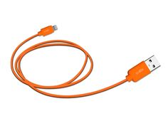 Orange Lightning cable: best visibility in car environment