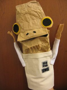 Star Wars Crafts....I need to get this book. And, I should have made this for the Teaching Art puppet last year...