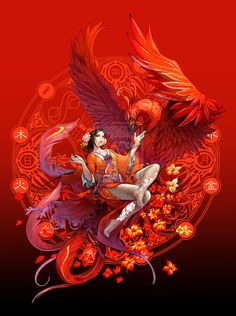 Phoenix Spirit by daxiong.deviantart.com  like the stance of the bird
