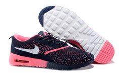 sale retailer 1e9b9 fa5bd Goede Goed Nike Air Max 90 87 Thea Flyknit Online Donkerblauw Rose Heren  Schoenen aan nikeschoenenbestellen.com te Koop Online