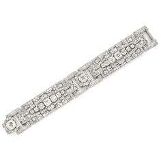 Art Deco diamond bracelet by Cartier, circa 1925