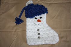Snowman stocking by creativedayconcepts on Etsy