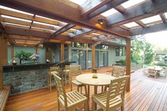 ranch style deck | 1700 square foot, 2-level deck, outdoor kitchen, and firepit ...