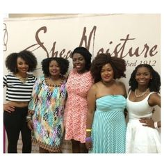 A powerhouse of beauty at the SheaMoisture #ABetterWayToBeautiful Studio in New Orleans 2014. From left to right: MsVaughnTV, Imani Dawson of Tribe Called Curl, Jenell B Stewart of BlakIzBeautyful, Carmen Blakely of Lipstick Fashion Mascara, and Jessica Lewis of MahoganyCurls. #bbloggers #vloggers