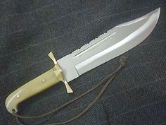 WB-SMITH HANDMADE NO DAMASCUS CUSTOM 52100 BALL BEARING  BOWIE KNIFE  #WBSMITH