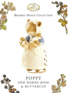Knitting Pattern ALAN DART BRAMBLY HEDGE Poppy & Babies Toy to Knit DK