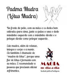 Magia no Dia a Dia: Padma Mudra Reiki, Mudras, Zen Yoga, Chakra Meditation, Wicca, Good Vibes, Positive Thoughts, Self Help, Yoga Fitness