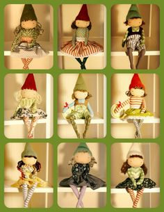 CREATE YOUR OWN custom MiaLa Nordic Holiday Shelf Elf. You pick boy or girl, hair color, eyes, and fabrics.. $43.00, via Etsy. How cute are these?!