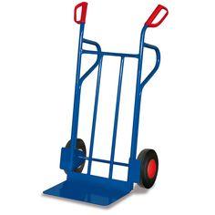 GTARDO.DE:  Stahlrohrkarre, Tragkraft 250 kg, Maße 686 x 702 x 1185 mm, Schaufel 480 x 297 mm, Rad 250 x 60 mm, Höhe 1185 mm 100,00 €