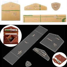 Acrylic Clear Leather Template Kit For Wallet Leathercraft Leather Pattern DIY | Crafts, Leathercrafts, Leathercraft Tools | eBay!