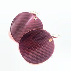 Vanda Ferencz carbon fiber earrings