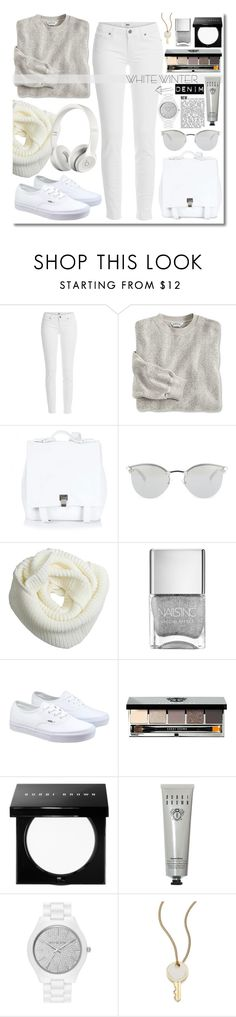 """""""Friday this..."""" by clovers-mind ❤ liked on Polyvore featuring Paige Denim, Proenza Schouler, Fendi, Vans, Beats by Dr. Dre, Bobbi Brown Cosmetics, MICHAEL Michael Kors, Marc by Marc Jacobs, casual and white"""