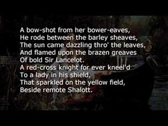 The Lady of Shalott by Alfred Lord Tennyson Invictus Poem, Tennyson Poems, The Lady Of Shalott, Alfred Lord Tennyson, Pomes, The Orator, Red Cross, I Love Books, Book Worms