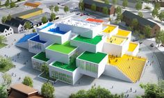 "The place where ""fun is handmade"" just got one big step closer to becoming a reality. The Bjarke Ingel Group-designed LEGO House recently topped out near the toy brand's corporate campus in Billund, Denmark and has been assigned a grand opening date for September 28, 2017. Designed as a stack of larger-than-life LEGO bricks, the new LEGO experience center will offer a variety of LEGO-themed exhibitions and activities."