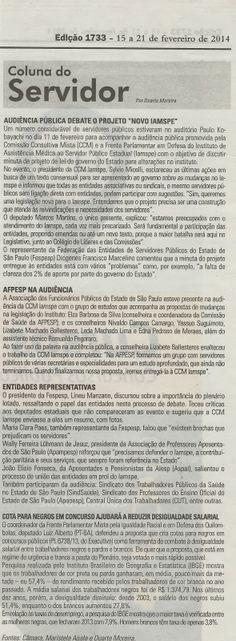 Jornal dos Concursos publica matéria sobre Audiência Pública do Iamspe