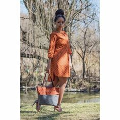 Buy it now Fashion Wear, Work Fashion, African Fashion Dresses, African Clothes, African Print Shirt, Shweshwe Dresses, Dashiki Dress, Printed Bags, African Fabric