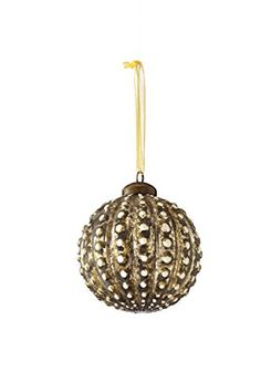 Sage & Co.  Glass Beaded Ball Ornament