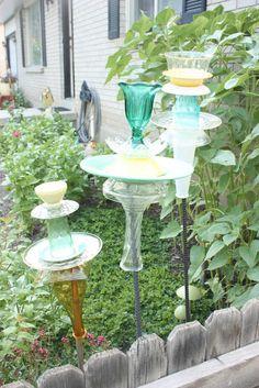 Life is Beautiful: Glass yard art tutorial