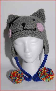 I want this!!!   Nyan Cat Crochet hat with earflap by Gitanaflipflops on Etsy, $55.00