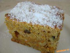 Mrkvová buchta - výborná!!! Krispie Treats, Rice Krispies, Cornbread, Vanilla Cake, Banana Bread, Carrots, Food And Drink, Menu, Healthy