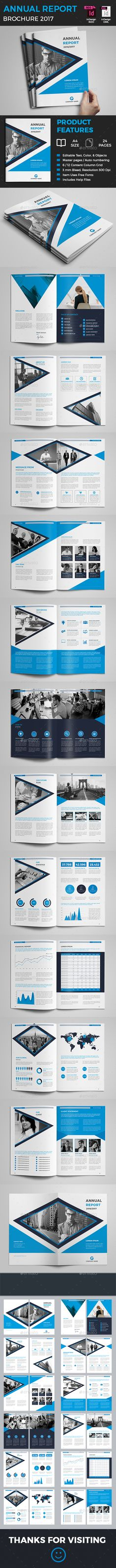 28 Pages Annual Report Template InDesign INDD Download here   - professional report template