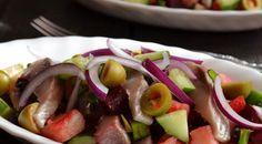 Салат винегрет с красной фасолью и сельдью