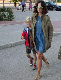 Carolina Herrera Jr. con su hijo Miguel