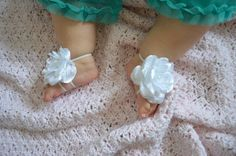 Barefoot Sandals  Baby Shoes Baby Foot by TheVintageCabbgeRose, $12.00